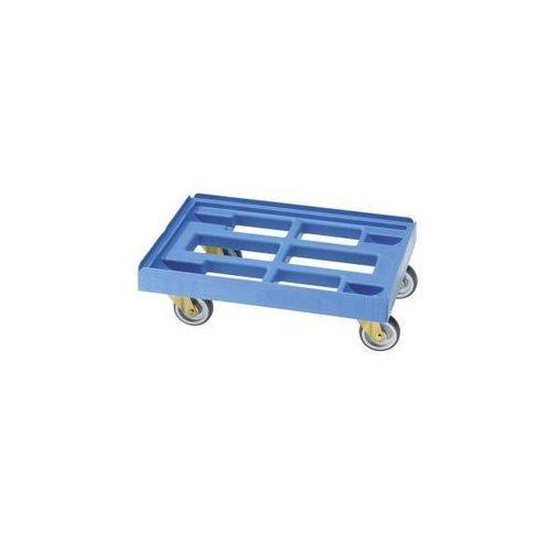 Wózek transportowy, dł. x szer. 610x410 mm, z hdpe, jasnoniebieski. nieduży cięż marki E.s.b. engineering - system - bau