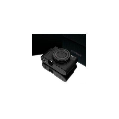 Halfcase z naturalnej skóry w kolorze czarnym dedykowany do Sony RX100M3/M4/M5, XS-RX100M3BK