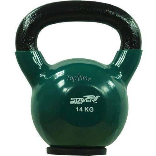Stayer-sport Kettlebell żeliwno-winylowy z gumową podstawą stayer sport 14 kg - 14 kg
