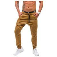 Camelowe spodnie baggy męskie Denley 0399