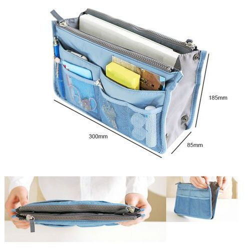 Organizer do torebki torby kosmetyczka niebieski wyprodukowany przez Beauty tools