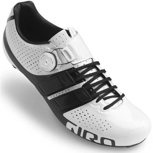 Giro Factor Techlace Buty Mężczyźni biały/czarny 42,5 2018 Buty rowerowe