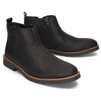 RIEKER 33660-00 black, botki męskie, kolor czarny