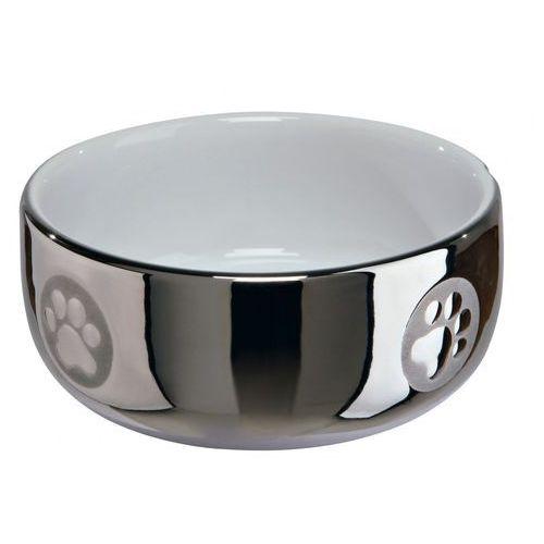 Trixie Miska ceramiczna chromowana dla psa lub kota 0.3l nr kat.24799, 320
