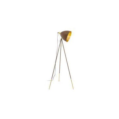 Eglo Lampa podłogowa chester 1 49519 1x60w e27 rdzawa/ złota