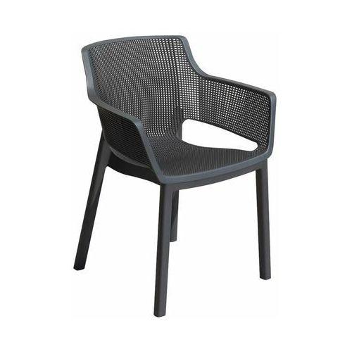 Allibert Krzesło ogrodowe elisa plastikowe antracytowe