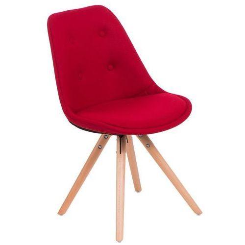 Domfan design Krzesło norden star pikowane - czerwony