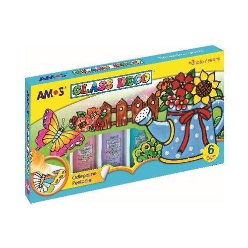 Amos Farby witrażowe glass deco 6 kolorów (8802946500260)
