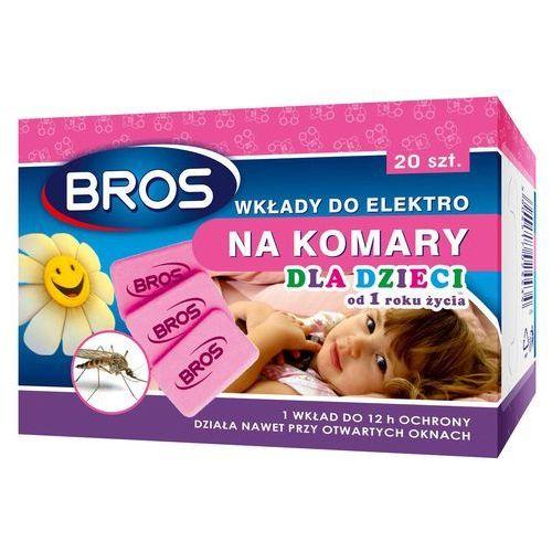 Wkłady do elektrofumigatora na komary i muchy dla dzieci od 1 roku życia Bros (20 sztuk) (5904517024434)