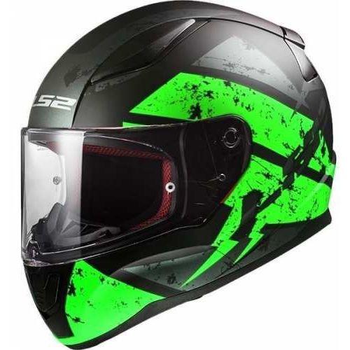 Kask motocyklowy kask ff353 rapid deadbolt black/green, model 2018! marki Ls2