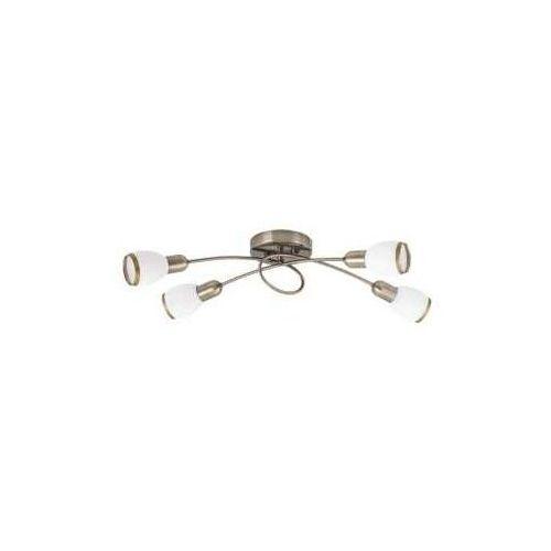Plafon lampa sufitowa oprawa spot Rabalux Elite 4x40W E14 mosiądz / biały 5973
