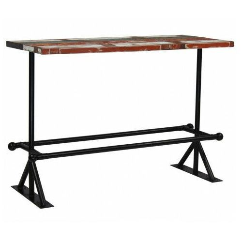 Kolorowy, drewniany stolik barowy – Sidden 4X, vidaxl_245388