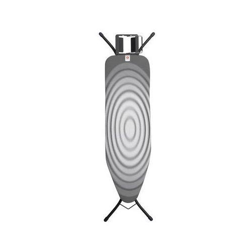 Deska do prasowania rozm. B z podstawą na żelazko Titan Oval czarna rama, 103841