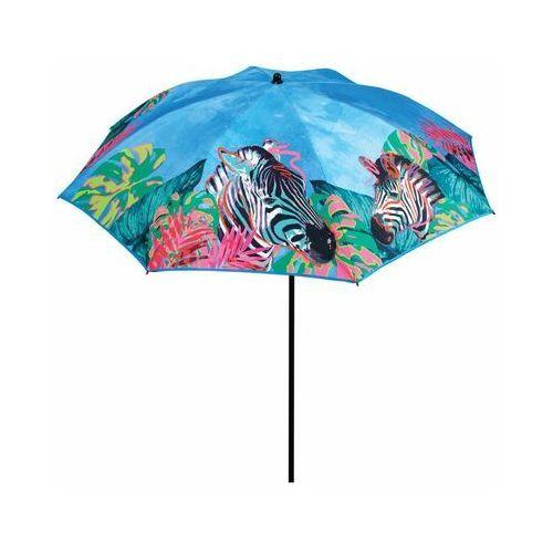 Jumi Parasol przeciwsłoneczny 200 cm zebra niebieski okrągły