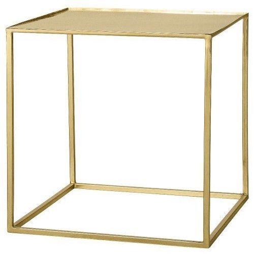 Stolik kawowy Cube, złoty - Bloomingville (5711173119233)