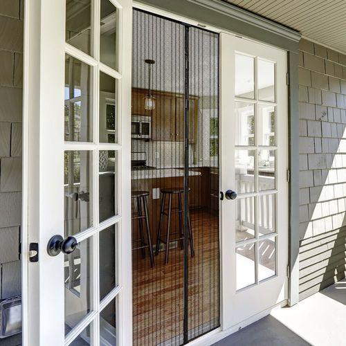 Jarolift Moskitiera magnetyczna, na drzwi, gotowa, biała, 160x230 cm (4250558295205)