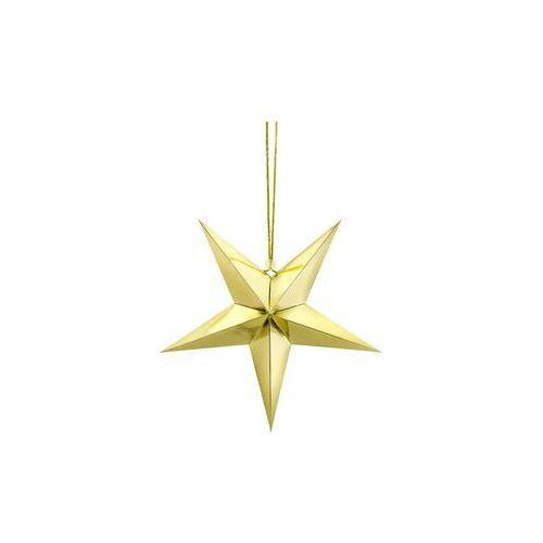 Dekoracja wisząca gwiazda papierowa złota - 30 cm (5902230747876)