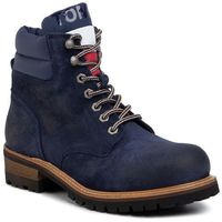Tommy jeans Trapery - suede lace up boot em0em00354 ink blue cgi