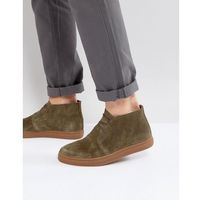 Selected homme dempsey suede chukka boots in khaki - green