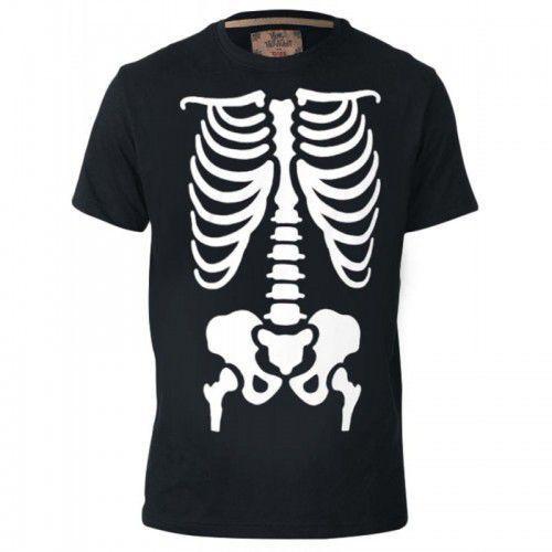 Scary-d555 halloween skelton duży t-shirt męski marki Duke
