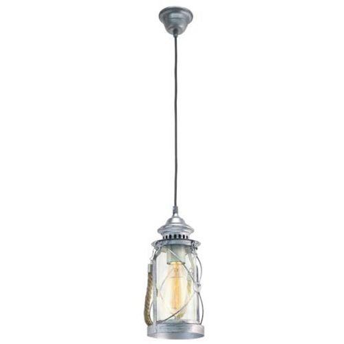Lampa wisząca vintage bradford - 14 cm antyczne srebro, 49214 marki Eglo
