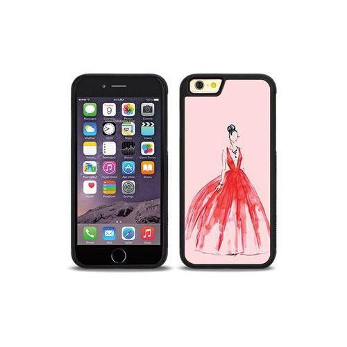 Apple iPhone 6 - etui na telefon Aluminum Fantastic - czerwona suknia, kolor czerwony