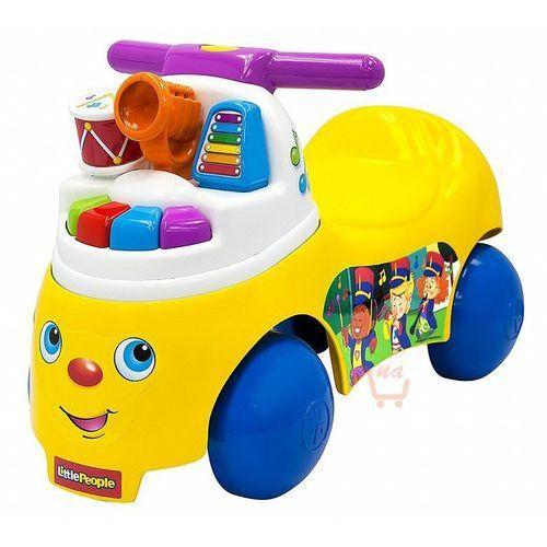 jeździk małego muzyka marki Mattel fisher price