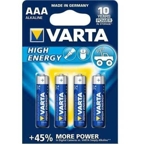 4 x Varta High Energy LR03 AAA (blister) (4008496808823)