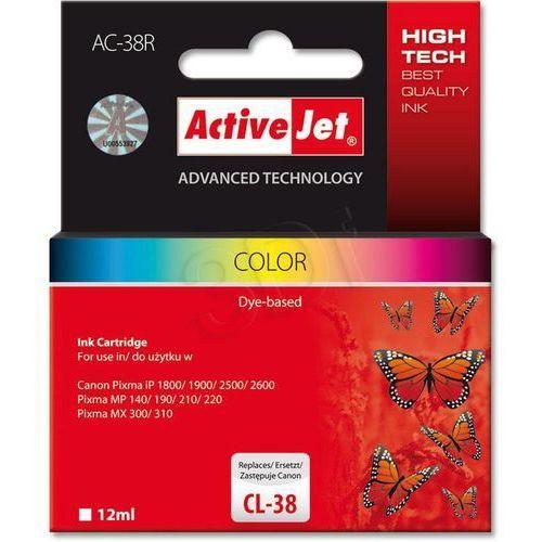 Tusz ActiveJet AC-38R (AC-38) kolorowy do drukarki Canon - zamiennik Canon CL-38, kolor Kolorowy