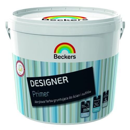 BECKERS DESIGNER PRIMER- biała farba gruntująca, 3 l, kolor biały