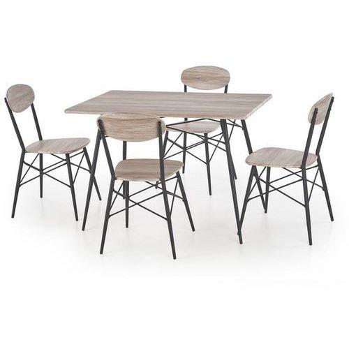 Zestaw stołowy HALMAR KABIR prostokąt - stół + 4 krzesła