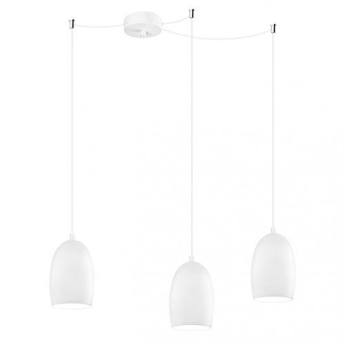 LAMPA wisząca UME 3/S/OPAL MATTE Sotto Luce szklana OPRAWA nowoczesna ZWIS biały matowy, UME 3/S/OPAL MATTE