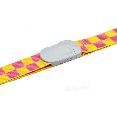 Go travel dg/221 pas do zabezpieczenia bagażu 5 cm - żółty / różowy