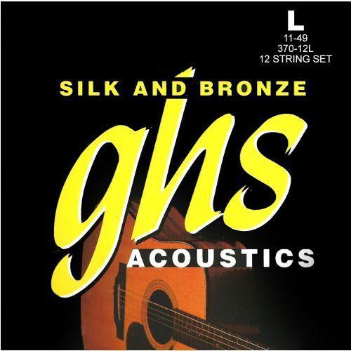GHS Silk and Bronze struny do gitary akustycznej, 12-String, Phosphor Bronze, Light,.011-.049