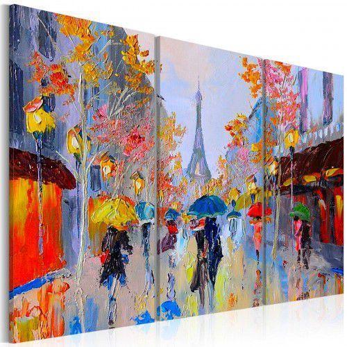 Obraz malowany - deszczowy paryż marki Artgeist