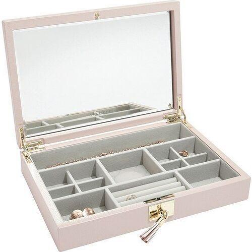Stackers Szkatułka na biżuterię loves luxury jasnoróżowa z pokrywką i lusterkiem (5013648044157)
