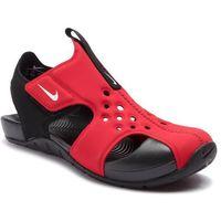 Sandały NIKE - Sunray Protect 2 (PS) 943826 601 University Red/White/Black, kolor czerwony