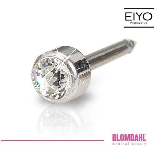 Kolczyk do przekłuwania uszu Blomdahl - Bezel Crystal 4 mm w kolorze srebra