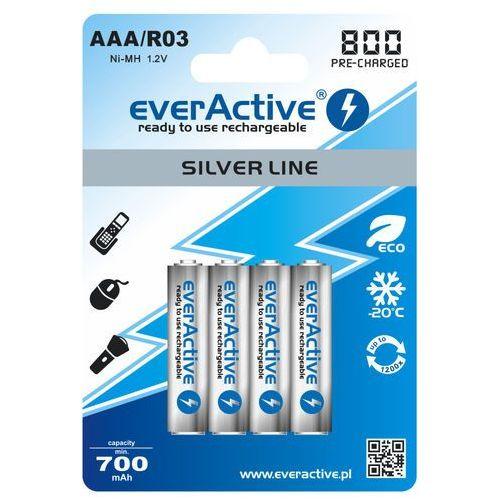 4x akumulatorki  r03/aaa ni-mh 800 mah ready to use marki Everactive