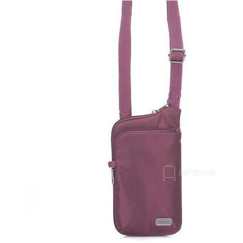 Pacsafe daysafe tech crossbody damska torebka na ramię / saszetka / fioletowa - blackberry