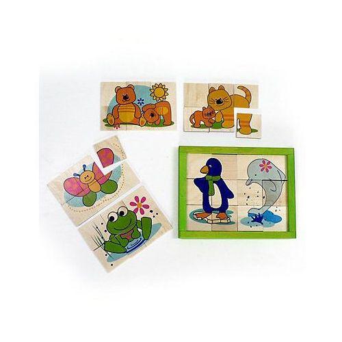 drewniane puzzle - 8 obrazków marki Hess