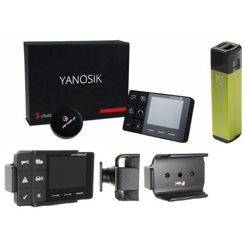 Yanosik s-clusive + dożywotni abonament w zestawie z uchwytem samochodowym brodit + flip 10 power bank, przenośna ładowarka