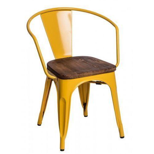 Krzesło paris wood sosna - inspirowane proj. tolix marki Design town