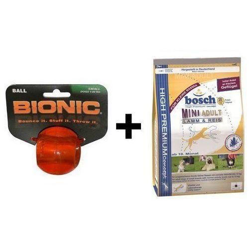 Outward Hound Bionic Ball Small piłka mała [BO-CL204] + Bosch Mini Adult Lamm & Reis - Jagnięcina i ryż 1kg