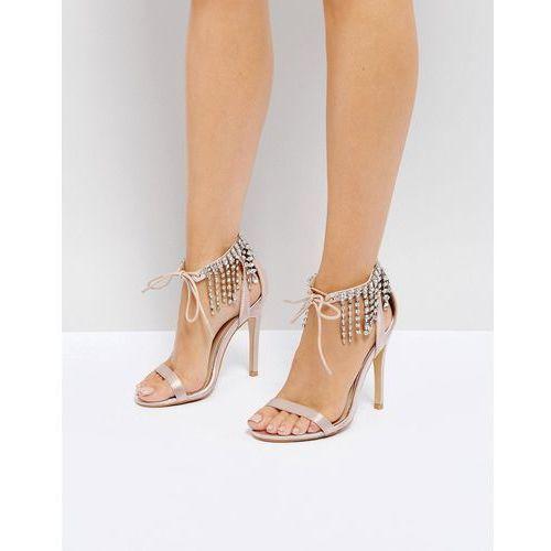 Truffle Collection Wedding Embellished Heeled Sandals - Beige