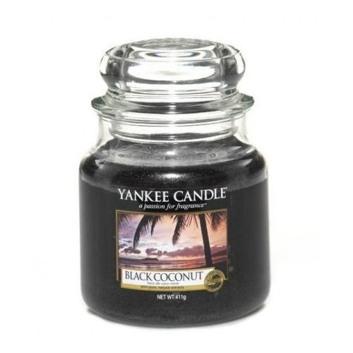 Świeca YANKEE słoik średni Black Coconut - YSSBC2, 11435