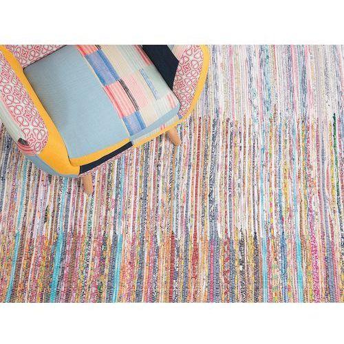Dywan - wielokolorowy - 80x150 cm - bawełna - handmade - mersin marki Beliani