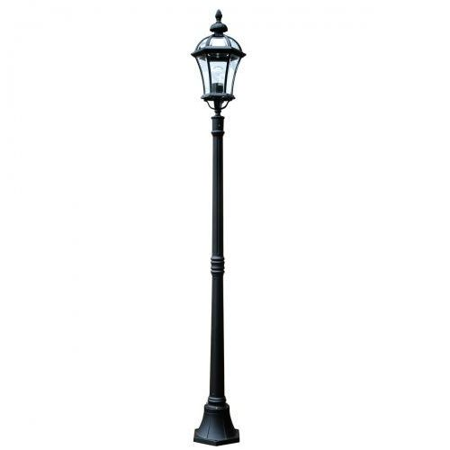 Zewnętrzna lampa ścienna ledbury gzh/lb1 klasyczna oprawa metalowa kinkiet ogrodowy ip44 outdoor czarny marki Elstead