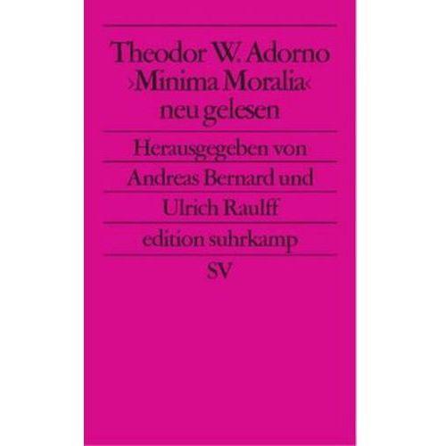 Theodor W. Adorno 'Minima Moralia' neu gelesen (9783518122846)