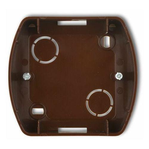 KARLIK TREND 4PTH-1 Puszka montażowa pozioma pojedyncza brązowy